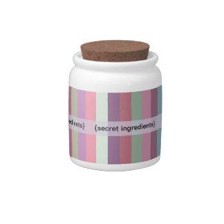 {secret ingredient} jar candy dishes