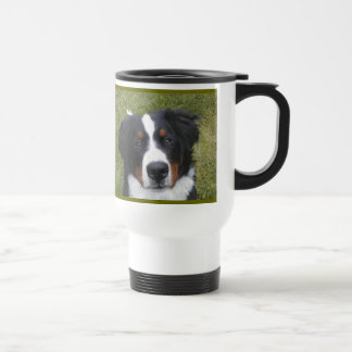 Secret Ingredient with great coffee...Berner fur! 15 Oz Stainless Steel Travel Mug
