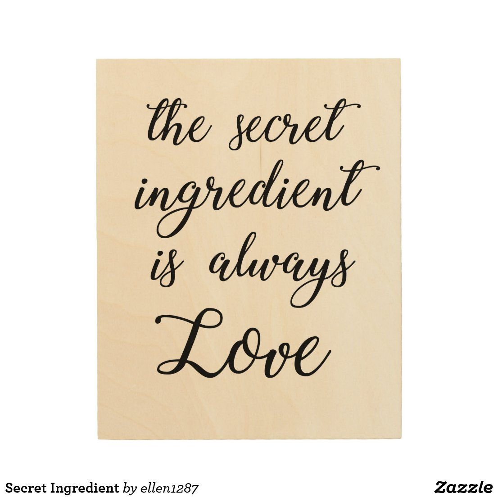 Secret Ingredient Wood Print