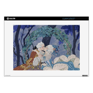 Secret Kiss, illustration for 'Fetes Galantes' by Decal For Laptop