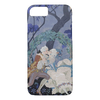 Secret Kiss, illustration for 'Fetes Galantes' by iPhone 8/7 Case