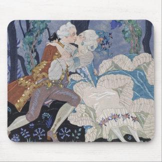 Secret Kiss, illustration for 'Fetes Galantes' by Mouse Pads
