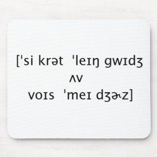 Secret Language Mouse Pad