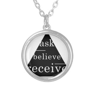 Secret law of attraction silver plated necklace