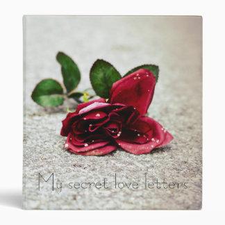 Secret love letters 3 ring binder
