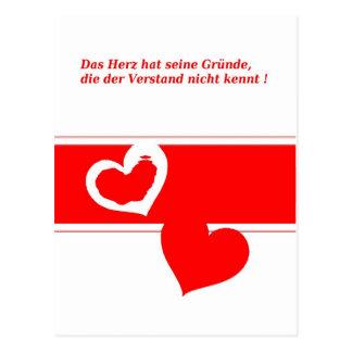 Secret love postcard