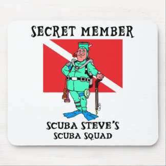 Secret Member SCUBA Steve Mouse Pad