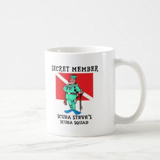Secret Member SCUBA Steve Classic White Coffee Mug