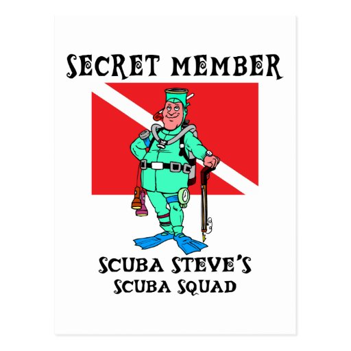Secret Member SCUBA Steve Postcard