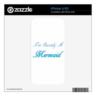 Secret Mermaid Decal For iPhone 4