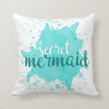 Beach Themed Secret Mermaid Pillow