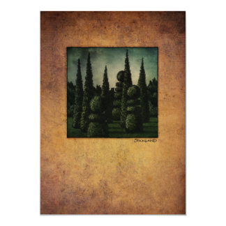 Secret Moonrise Garden Art Card