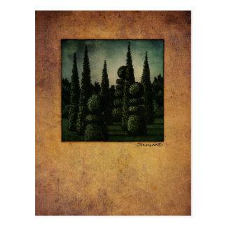 Secret Moonrise Garden Art Post Card