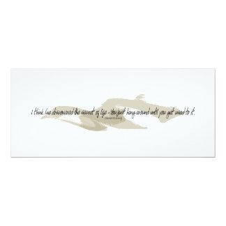 Secret Of Life 4x9.25 Paper Invitation Card