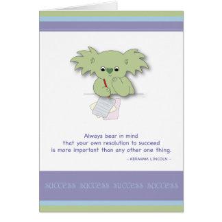 Secret of Success Greeting Card