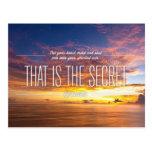 Secret Of Success - Motivational Quote Postcard