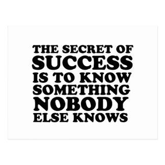 Secret of success postcard