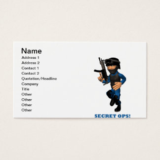 Secret Ops Business Card