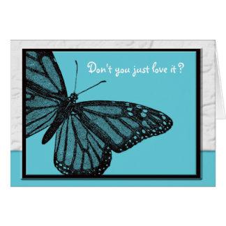 Secret Pal blue butterfly Card