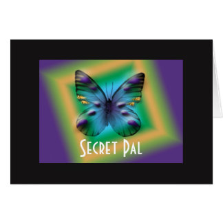 Secret Pal Boxed Butterfly Card