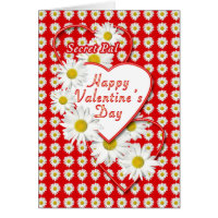 Secret Pal Daisies and Hearts Valentine Card
