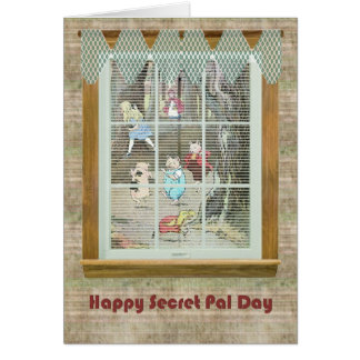 Secret Pal Day, Vintage Fairy Tale Characters Card