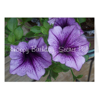 Secret Pal Petunia birthday Card