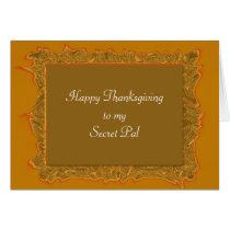 Secret Pal Thanksgiving Card