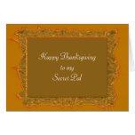 Secret Pal Thanksgiving Greeting Card