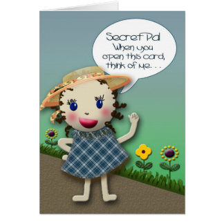 Secret Pal - THINKING OF YOU Greeting Card