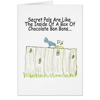 Secret Pals Are Like A Box Of Bon Bons Greeting Greeting Card