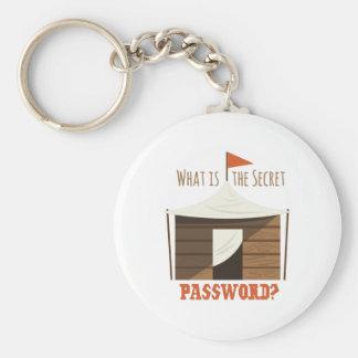Secret Password Basic Round Button Keychain