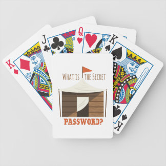 Secret Password Bicycle Playing Cards