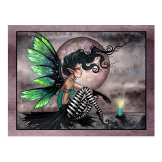Secret Place Fairy with Candle Postcard