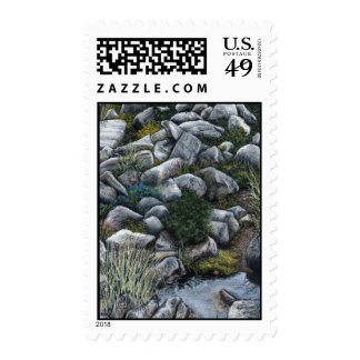 Secret place in the forest stamps