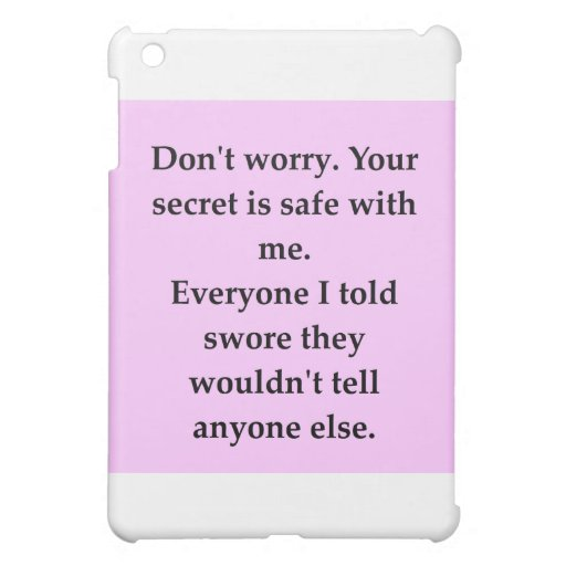 SECRET.png Cover For The iPad Mini