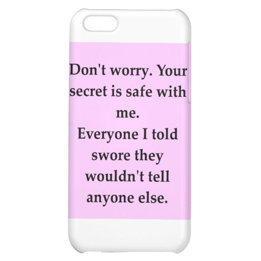SECRET.png iPhone 5C Cases