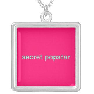 secret popstar square pendant necklace