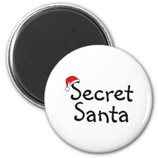 Secret Santa 2 2 Inch Round Magnet