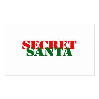 Secret Santa Business Card