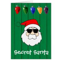 secret santa gift card - Santa Cards