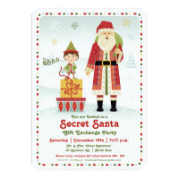 Secret Santa Gift Exchange Holiday Party Invitation