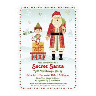 Secret Santa Gift Exchange Holiday Party Invitation