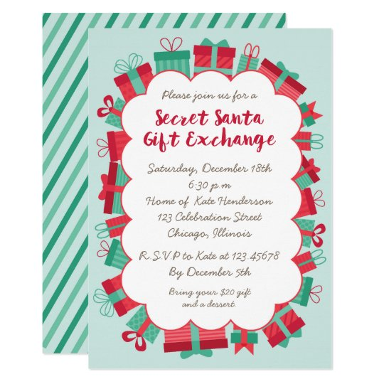 Secret Santa Gift Exchange Party Invitation | Zazzle.com