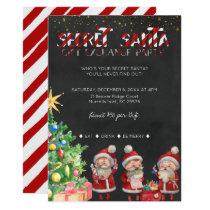 Secret Santa Gift Exchange Party Invitation