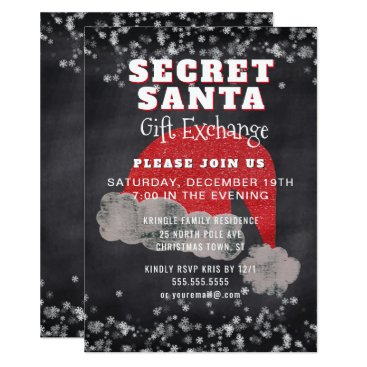 Professional Business Secret Santa Gift Exchange Party Invitation
