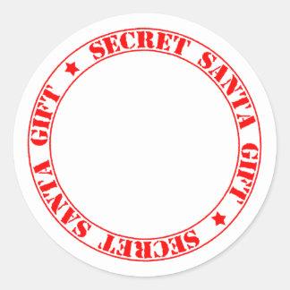 Secret Santa Gift Round Sticker