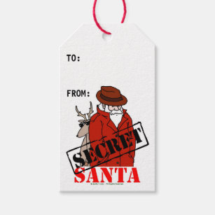 It's just a photo of Impertinent Secret Santa Gift Tags Printable Free