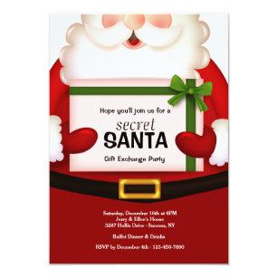 secret santa claus exchange gifts on zazzle .