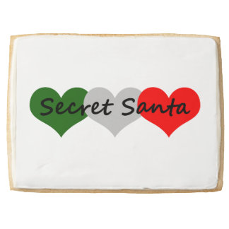 Secret Santa Jumbo Shortbread Cookie